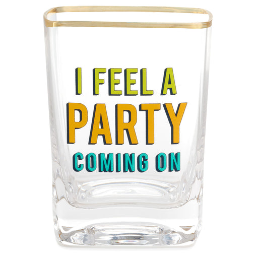 Party Coming On Lowball Glass
