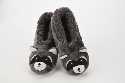 Furry Critter Raccoon Snoozies! Slippers