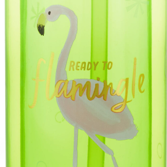 Skating Flamingo Plastic Water Bottle