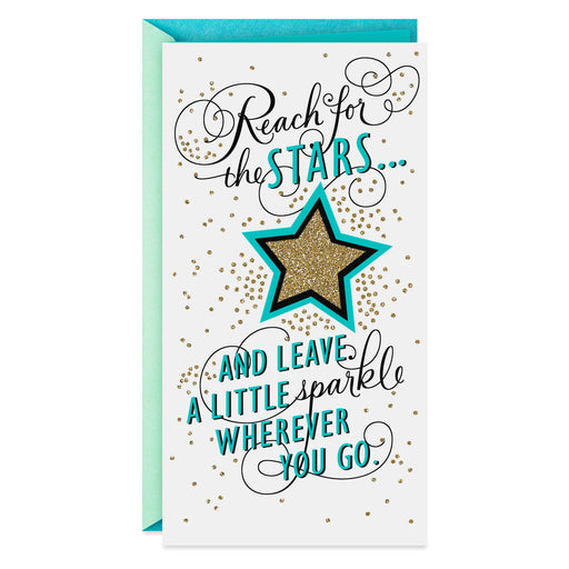 Reach for the Stars Money Holder Graduation Card