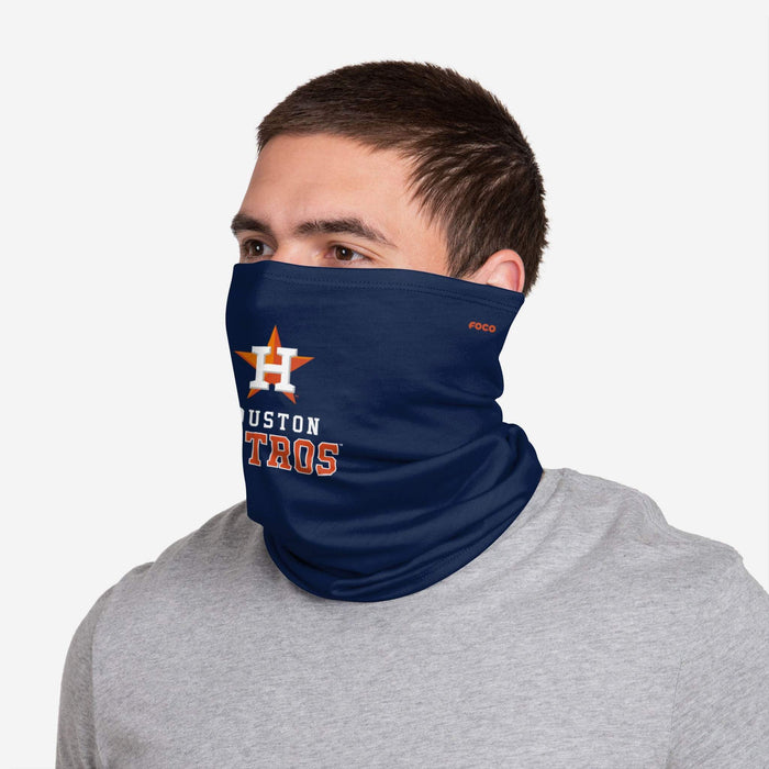 Houston Astros Team Logo Gaiter Scarf and Face Mask