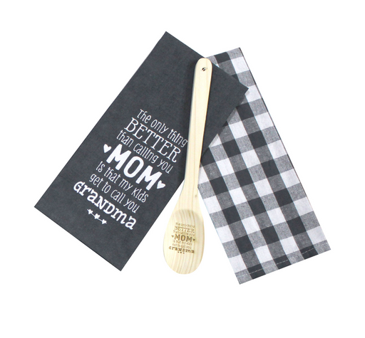 Only Thing Better Tea Towel and Wooden Spoon Set