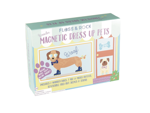 Wooden Magnetic Dress Up Dogs