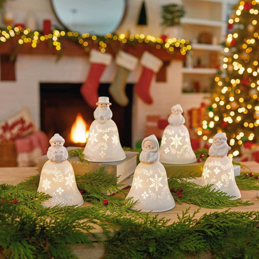 Snowmen Bell Choir Musical Decorations With Light