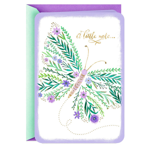 Butterfly Note to Brighten Your Day Thinking of You Card