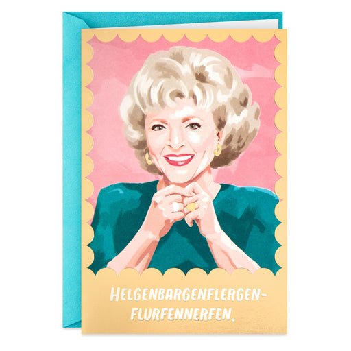 The Golden Girls Rose St. Olaf Funny Birthday Card