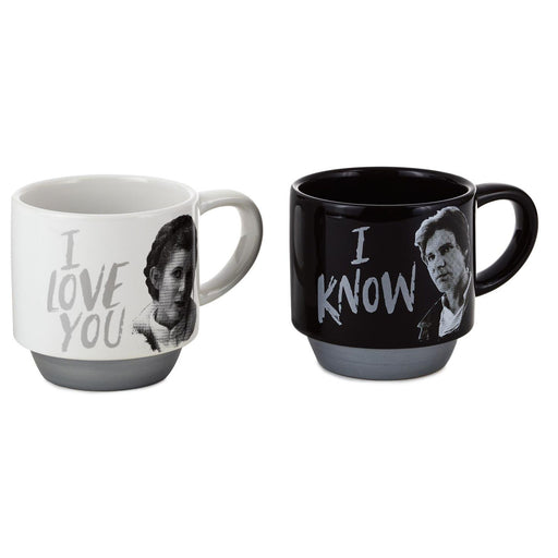 Star Wars™ Han Solo™ and Princess Leia™ Love You Stacking Mugs