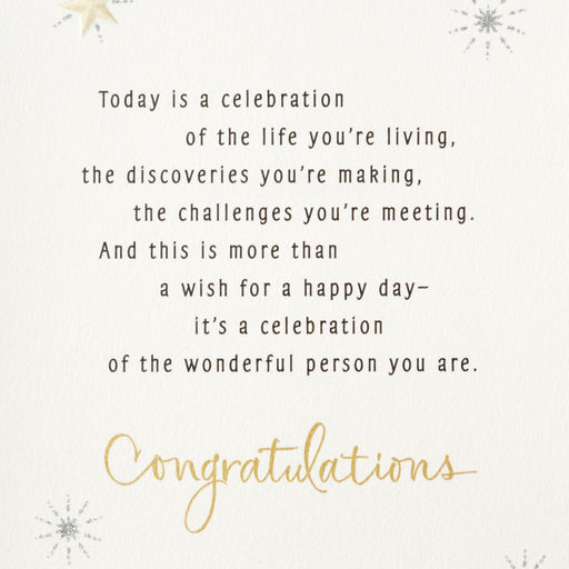 Celebrating the Wonderful Person You Are Graduation Card