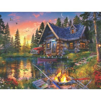 Sun Kissed Cabin 500 Piece Jigsaw Puzzle