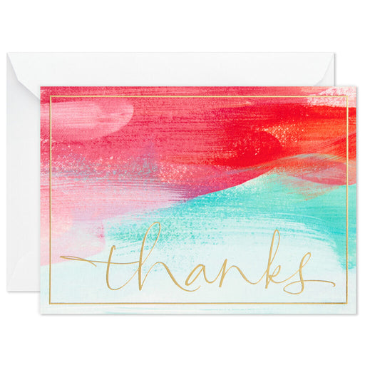 Sunset Swash Blank Thank-You Notes