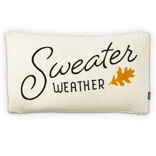 Sweater Weather Lumbar Throw Pillow, 19.5x12