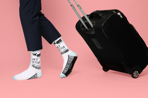 Adult Travel Junkie Socks