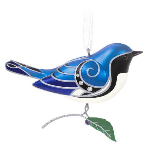 Black-Throated Blue Warbler Ornament - 16th in the Beauty of Birds Series
