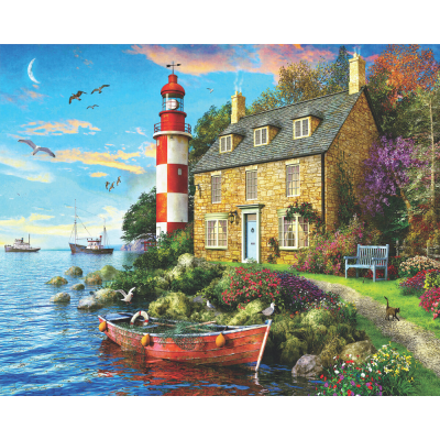 The Cottage Lighthouse 1000 Piece Jigsaw Puzzle
