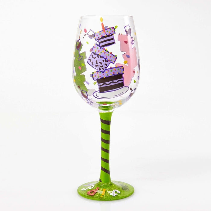 Tipsy Birthday Lolita Wine Glass