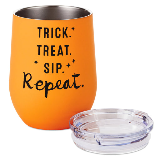 Trick Treat Sip Repeat Stainless Steel Stemless Wine Tumbler