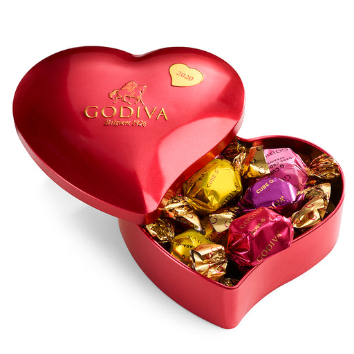 Heart Tin with Assorted Truffles
