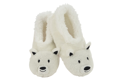 Kids Polar Bear Wild Animals Snoozies! Slippers