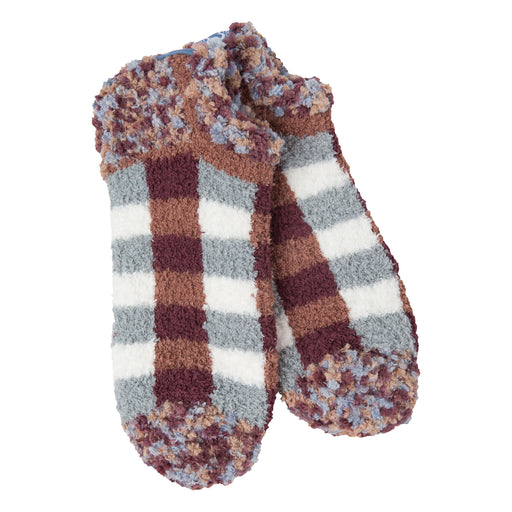 Woods Plaid Cozy Low Socks