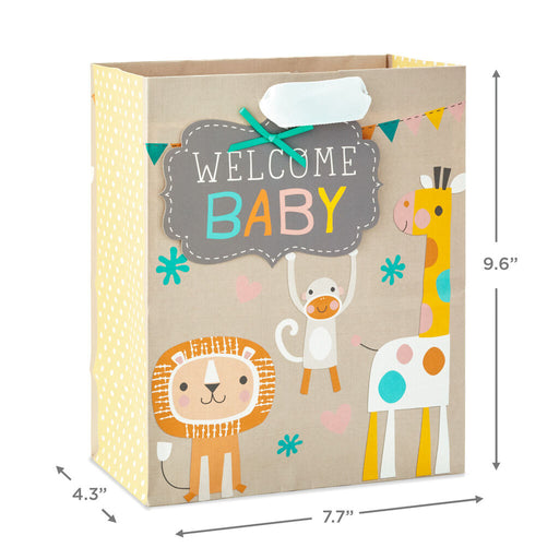 Welcome Baby Animals Medium Gift Bag