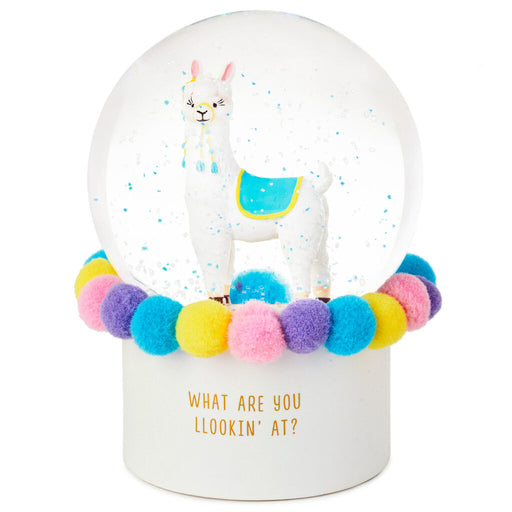 What Are You Llookin' At? Llama Snow Globe