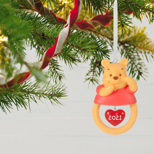 Disney Winnie the Pooh Baby's First Christmas 2021 Porcelain Ornament