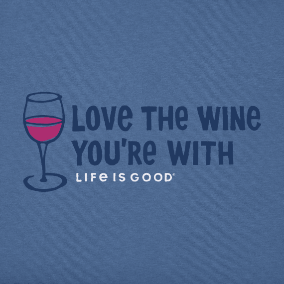 Love the Wine Crusher Vee Neck Tee