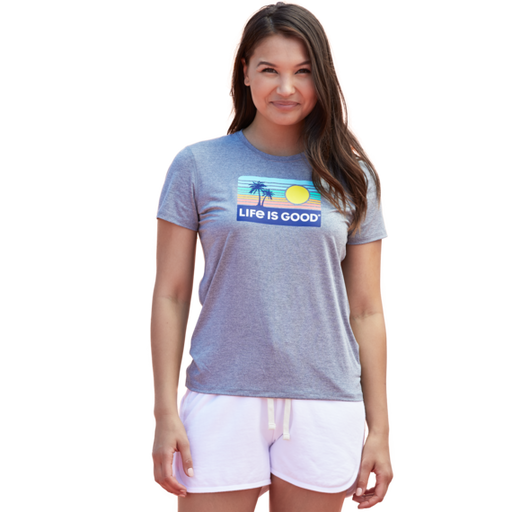Retro Sun & Palm Women's Active Tee