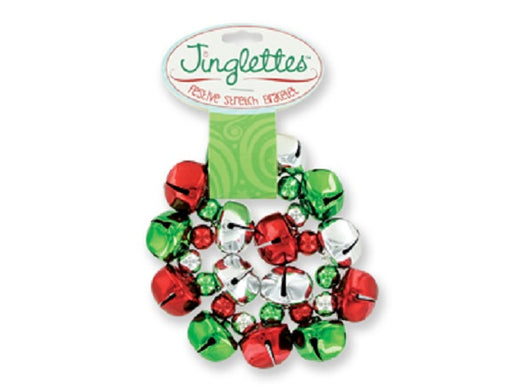 Jingle Bell Stretch Bracelet - Red and Green