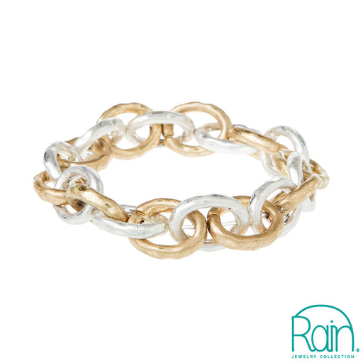 Silver Gold Cable Chain Bracelet