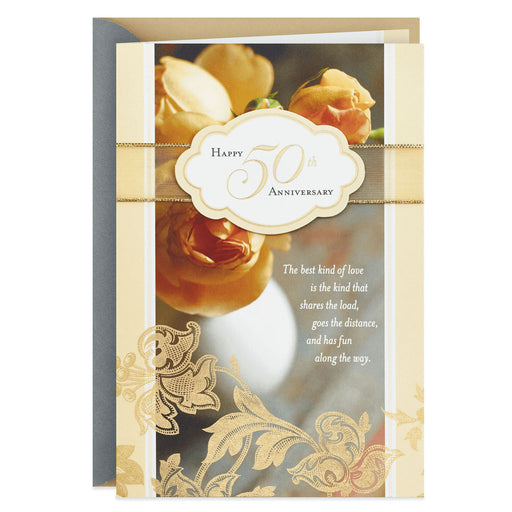 Best Kind of Love 50th Anniversary Card