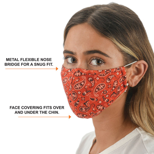 Bandana Print Face Mask with Filters