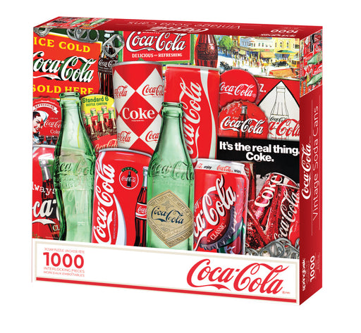 Vintage Soda Cans 1000 Piece Jigsaw Puzzle