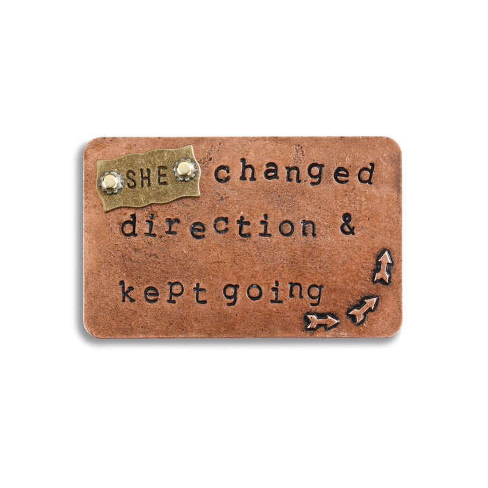 She Changed Direction Inspire Card