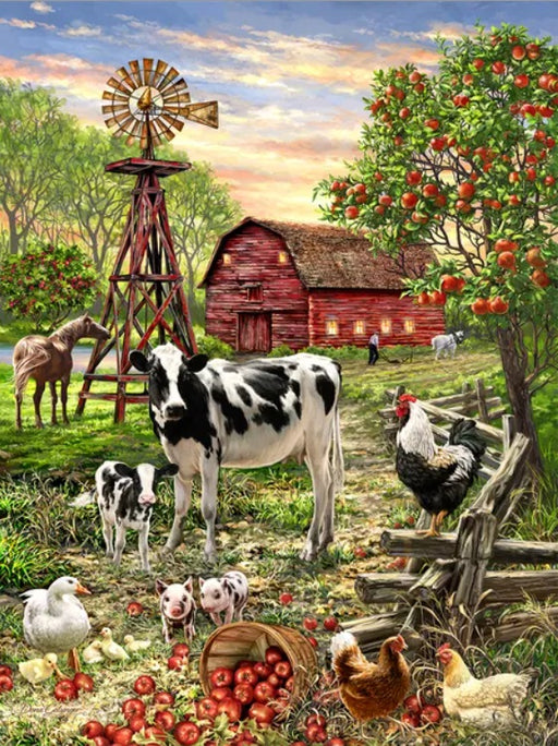 Barnyard Animals 500 Piece Jigsaw Puzzle