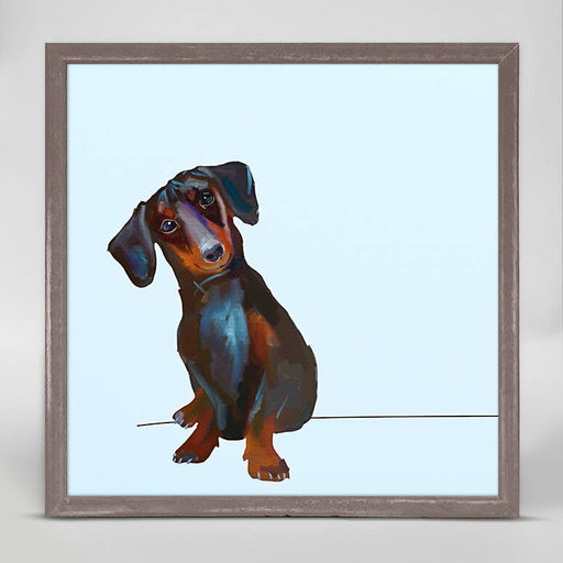 Best Friend - Tippy The Dachshund Mini Framed Canvas