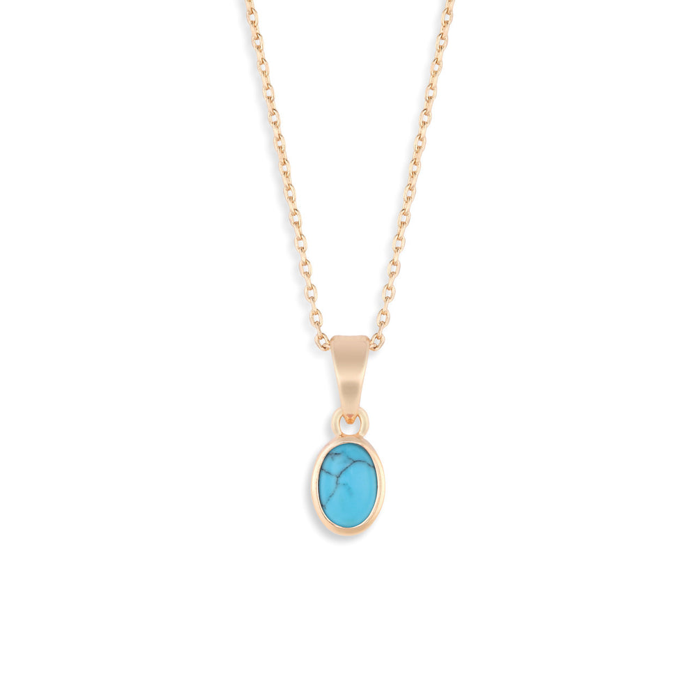 Gold Giving Necklace - Turquoise