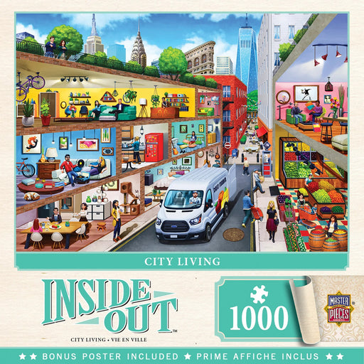 Inside Out City Living 1000 Piece Jigsaw Puzzle