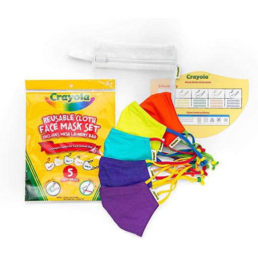 Crayola Kids Back to School Mask Pack with Mesh Laundry Bag
