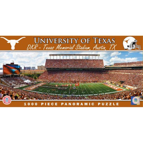 University of Texas Longhorns Stadium 1000 Piece Panoramic Jigsaw Puzzle