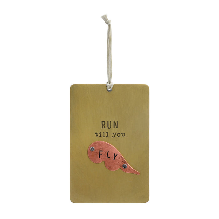 Run Til You Fly Pinboard Plaque