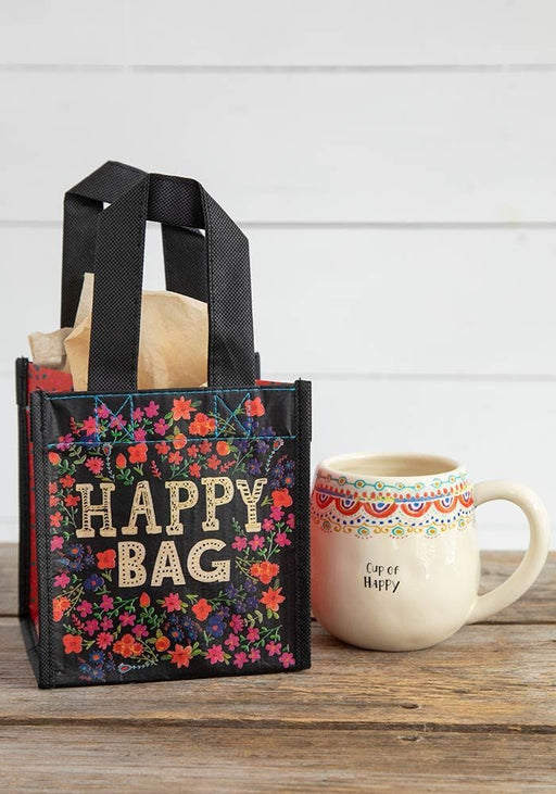 Happy Bag™ Small Black Cream Floral
