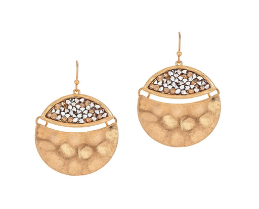 Gold Pave Hinged Circle Earrings