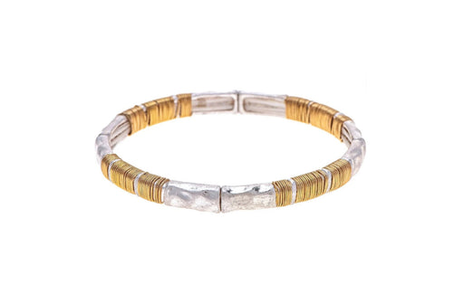 Silver Gold Wrap Stackable Bracelet