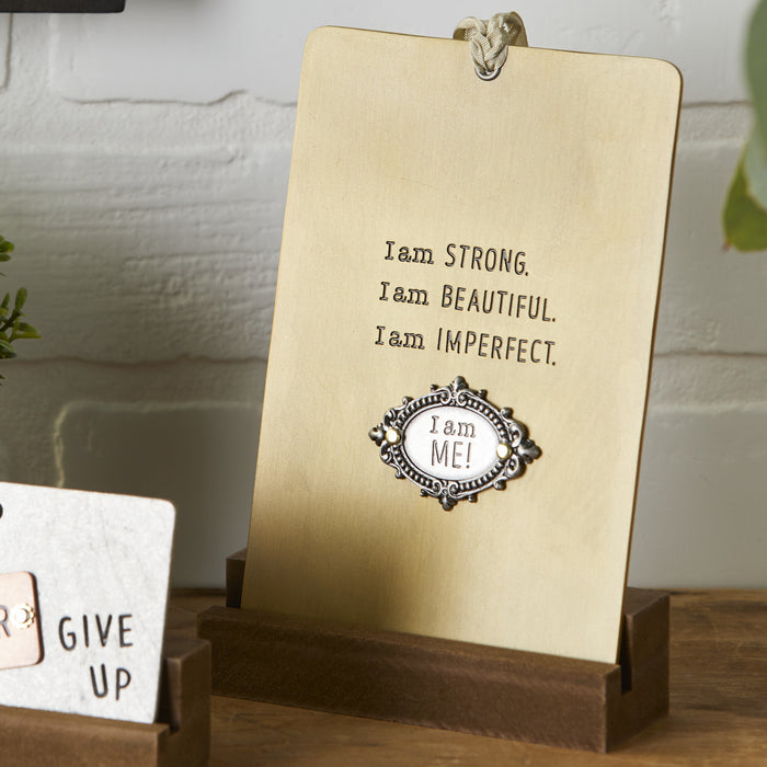 I am Strong Pinboard Plaque