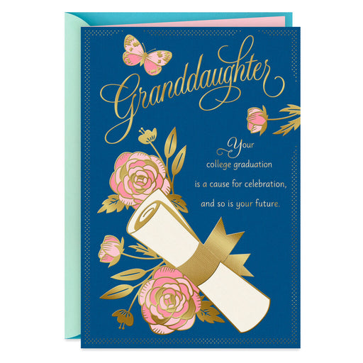 Amazing Things College Graduation Card for Granddaughter