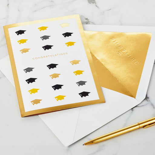 2020 Mortarboards and Confetti 3D Pop-Up Graduation Card