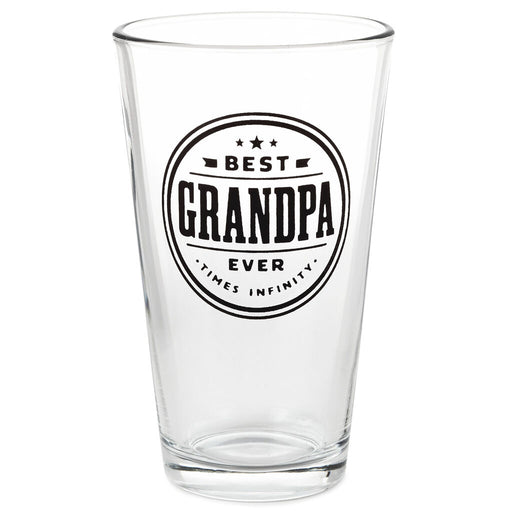 Best Grandpa Times Infinity Pint Glass