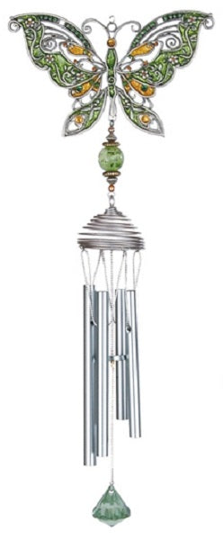 Green Pewterworks™ Butterfly Chime