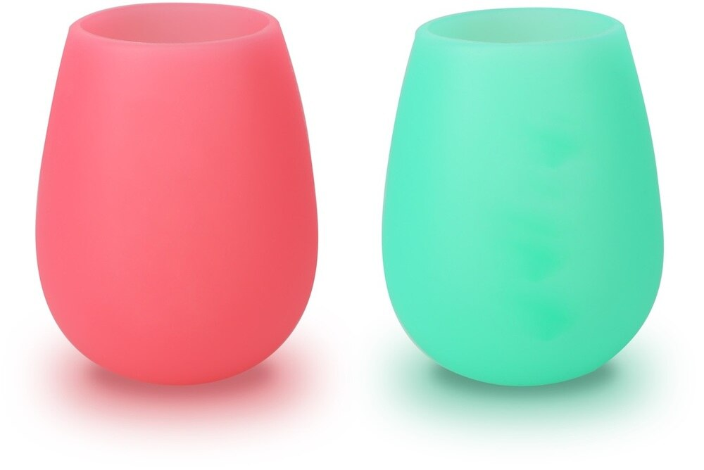 Happily Retired Stemless Silicone Wine Glass Set